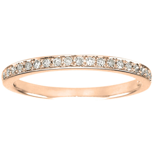 Diamond Wedding Band in 14K Rose Gold (0.15ct tw)
