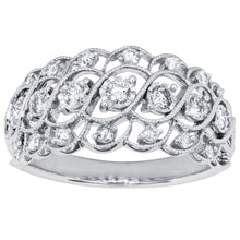 Load image into Gallery viewer, Miracle Mark 10K White Gold Diamond Cluster Ring (0.38 ct tw)