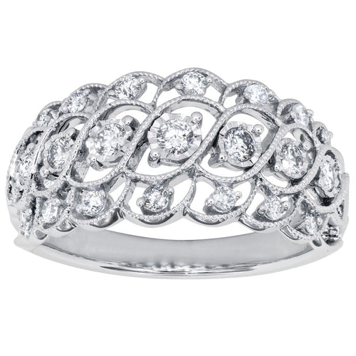 Miracle Mark 10K White Gold Diamond Cluster Ring (0.38 ct tw)