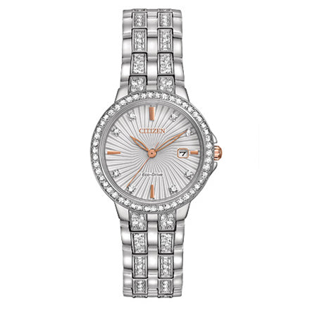 Citizen Women's Silhouette Crystal Eco-Drive Stainless Steel Watch