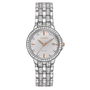 Citizen Women's Silhouette Crystal Eco-Drive Stainless Steel Watch | EW2340-58A