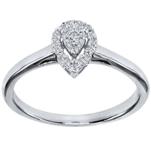 Load image into Gallery viewer, Promise Ring in 10K White Gold (0.10 ct tw)