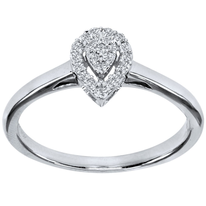 Promise Ring in 10K White Gold (0.10 ct tw)