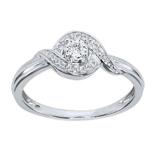 Load image into Gallery viewer, Diamond Cluster Promise Ring in 10K White Gold (0.07 ct tw)