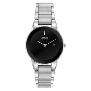 Citizen Women's Axiom Eco-Drive Black Dial Watch | GA1050-51E