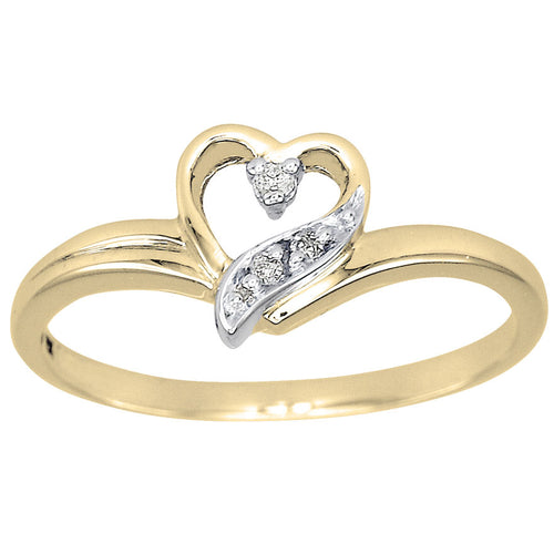 Heart Diamond Celebration Ring in 10K Yellow Gold (0.02ct tw)
