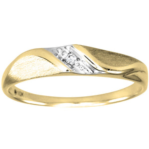 Hers Slanted Diamond Wedding Band in 10K Yellow Gold (0.01ct tw)