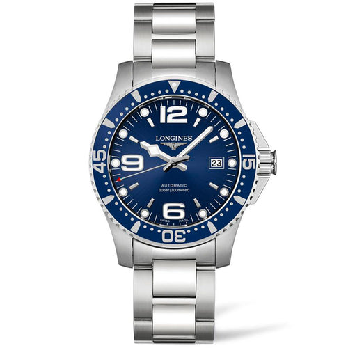 Blue dial dive watch mens automatic Longines