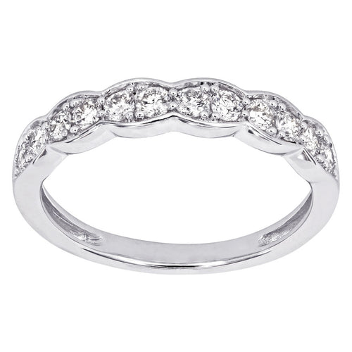 Diamond Anniversary Band in 14K White Gold (0.40 ct tw)