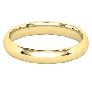 Low Dome Comfort Fit Wedding Band in 14K Yellow Gold (3MM)