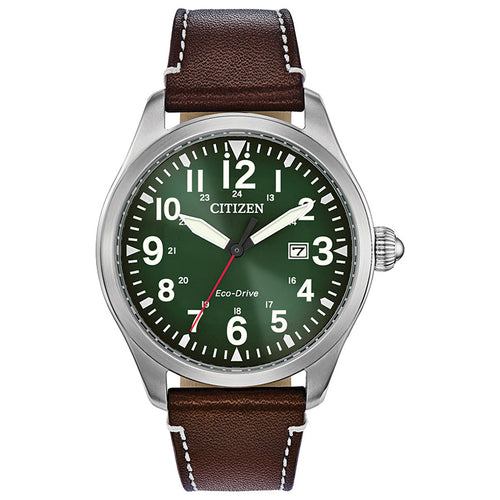 Citizen Chandler Men's Eco-Drive Watch In Evergreen Dial