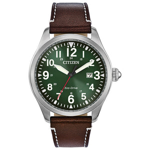 Citizen Chandler Men's Eco-Drive Watch In Evergreen Dial | BM6838-09X
