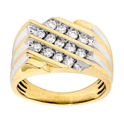 Mens Diamond Ring in 10K Yellow Gold (0.50ct tw)