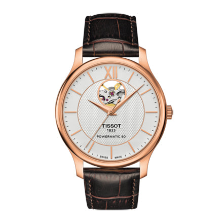 Tissot Traditional Powermatic 80 Open Heart Watch