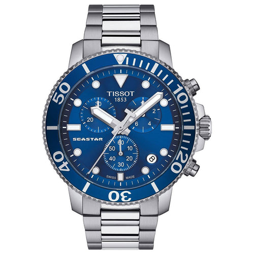 Tissot Seastar 1000 Chronograph In Blue Dial