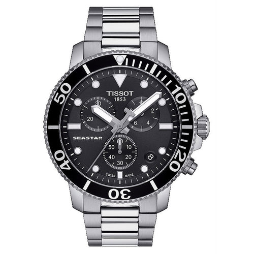 Tissot Seastar 1000 Chronograph In Black Dial