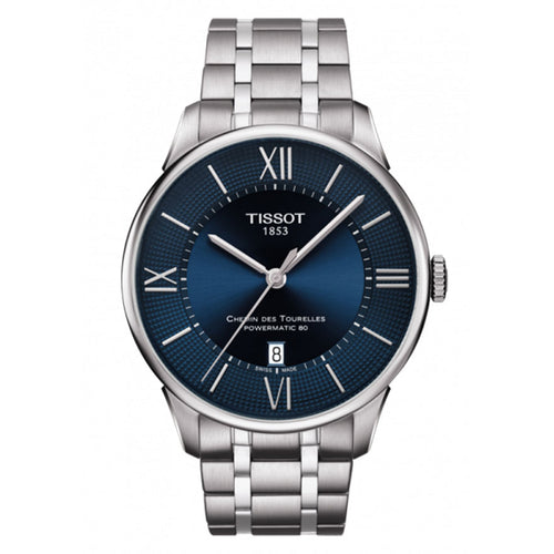 Tissot Chemin Des Tourelles Powermatic 80 In Blue Dial