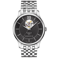 Load image into Gallery viewer, Tissot Tradition Powermatic 80 Open Heart Stainless Steel