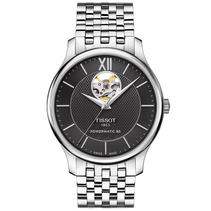 Tissot Tradition Powermatic 80 Open Heart Stainless Steel