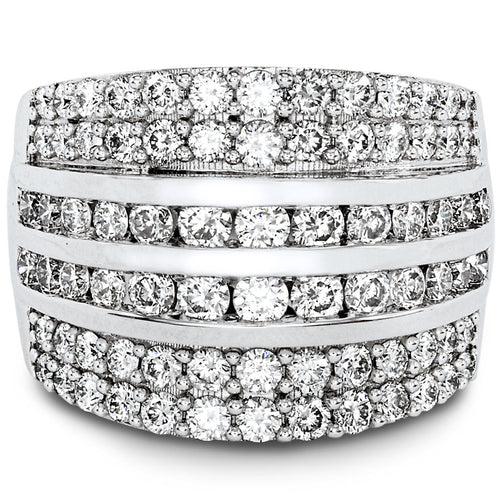 Two Carat Diamond Cluster Ring in 14K White Gold (2.00ct tw)