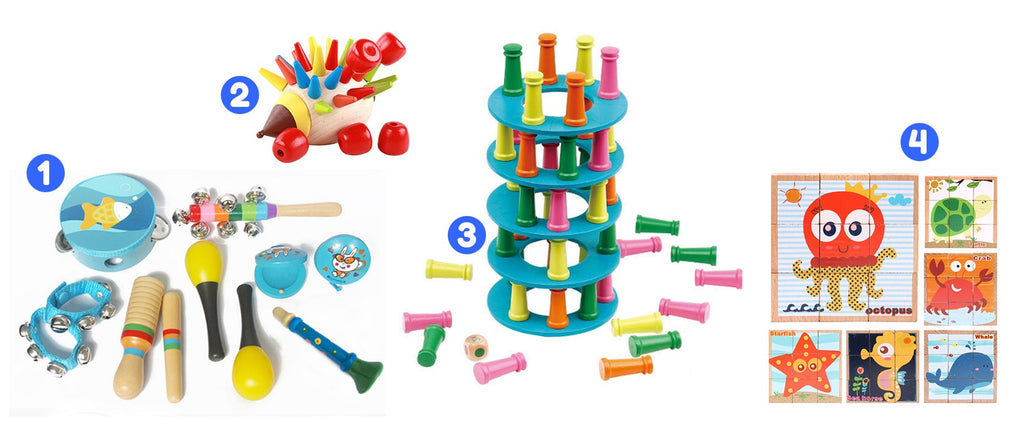 Ages 15 to 18 Months<br>Tinker, Talker, Toddler Toy Box - Spec Kid Club