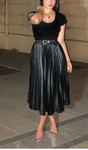 Faux leather skirt High Waist