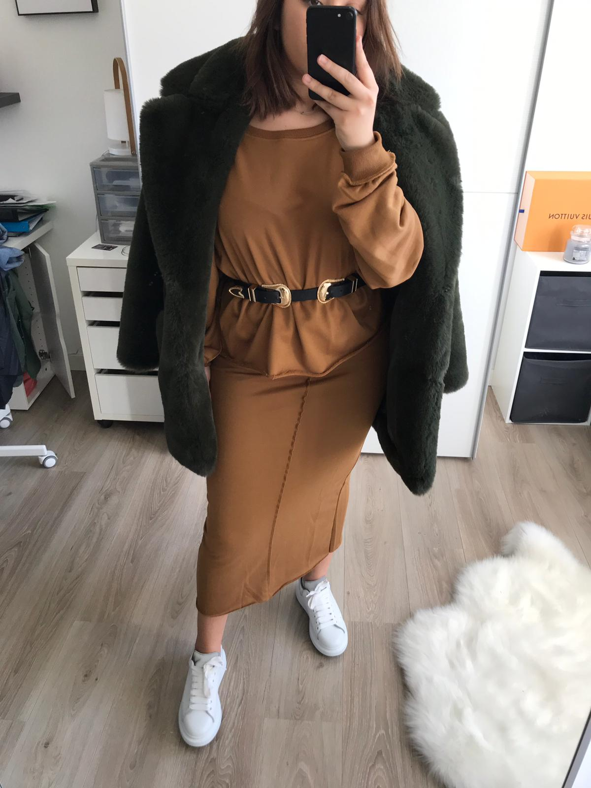 Bee Co Ord Skirt&Top Camel
