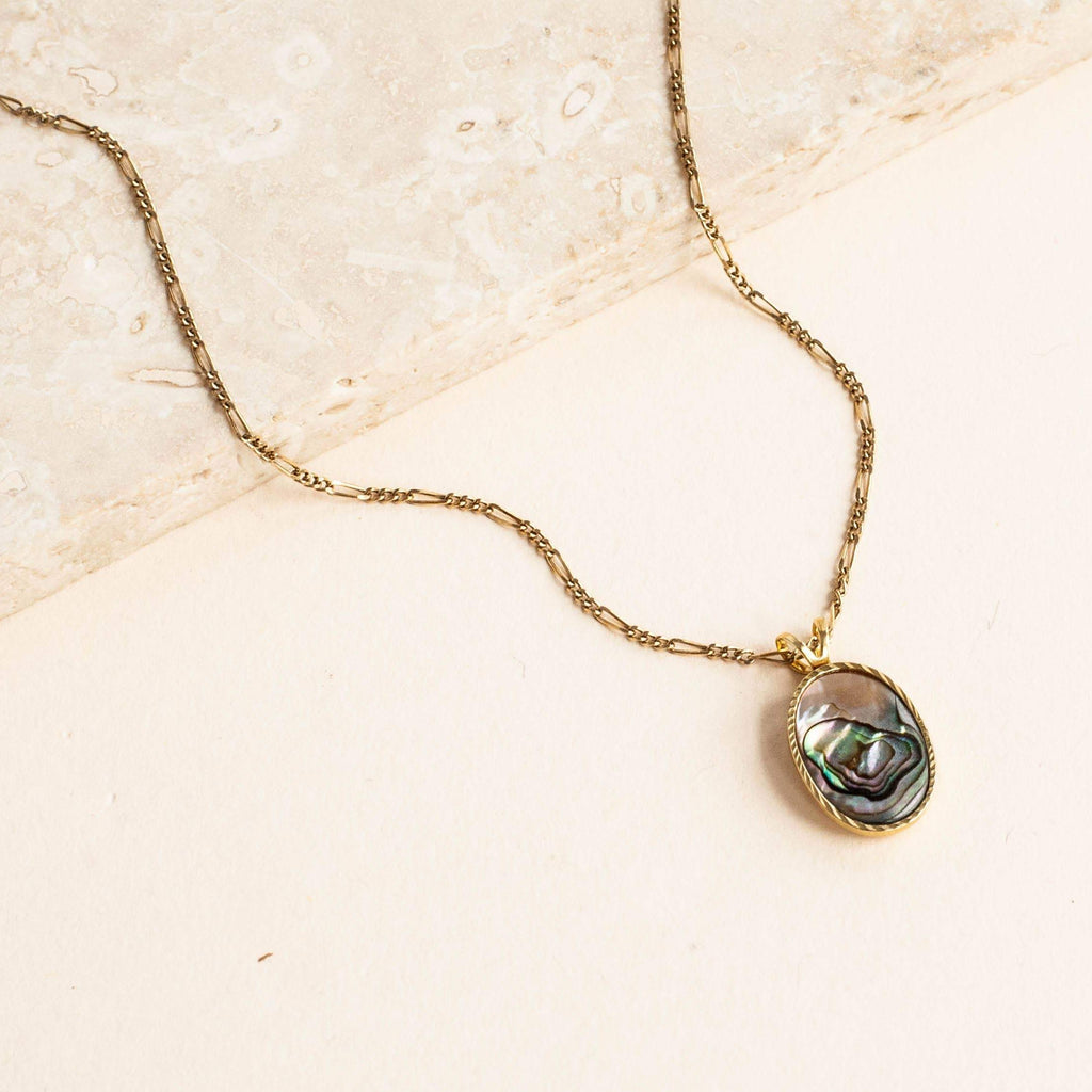 Abalone Ellipse Charm Necklace | Michelle Starbuck Designs | Golden Rule Gallery | Excelsior, MN