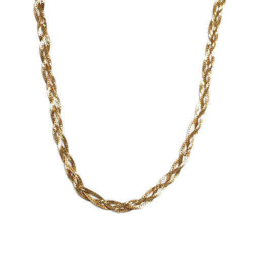 Vintage Braided Chain Necklace
