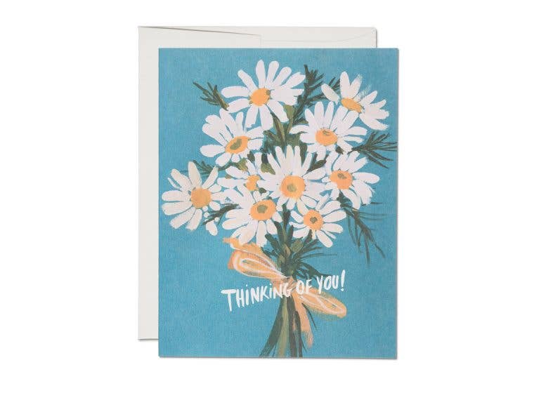Daisy Bouquet Greeting Card | Thinking of You Card | Red Cap Cards | Golden Rule Gallery | Excelsior, MN