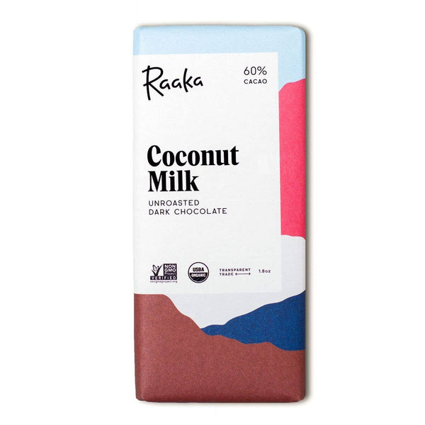 Non-Dairy Raaka Chocolate Bar | Coconut Milk Chocolate | Golden Rule Gallery | Excelsior, MN