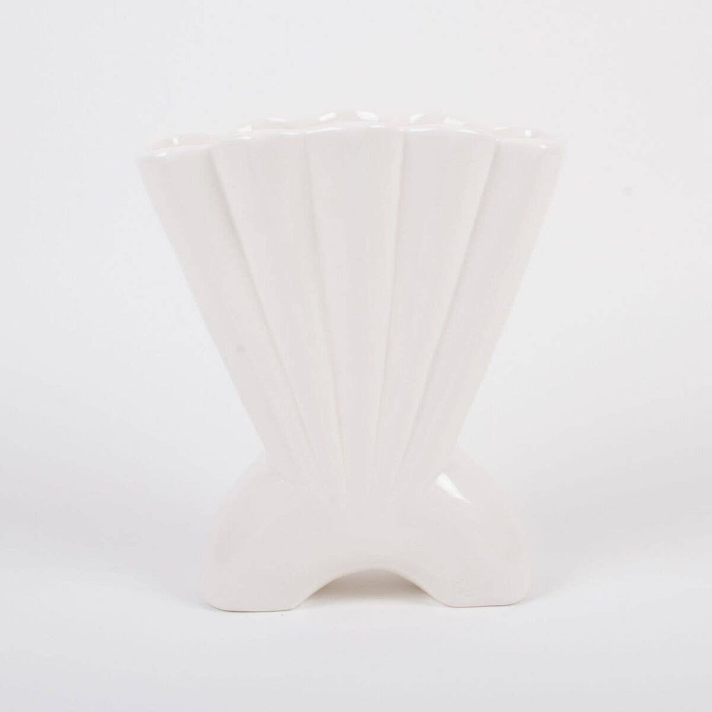 White Mermaid Shell Vase | White Pinterest Vase | Shell Vase | Golden Rule Gallery | Excelsior, MN