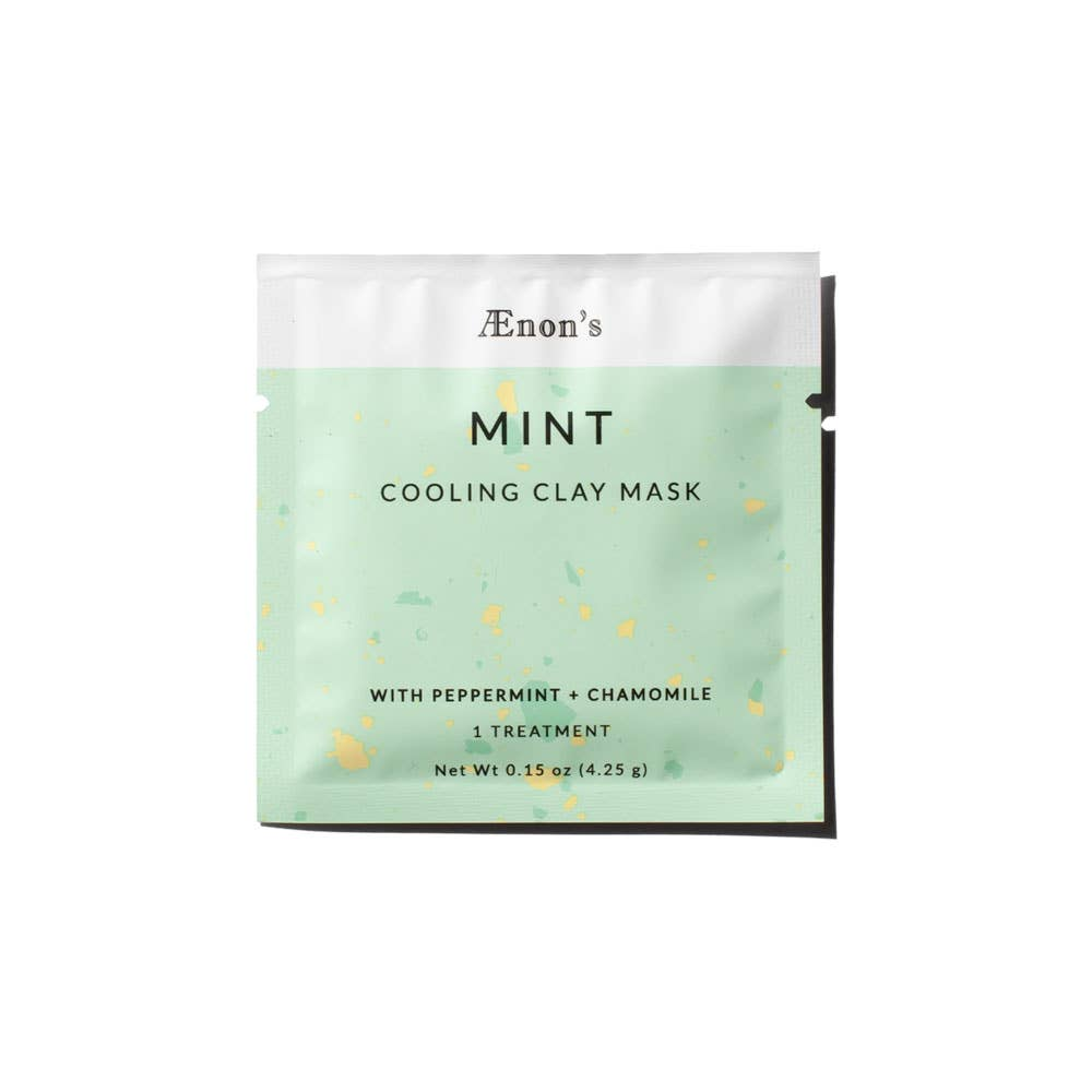 Mint Cooling Clay Mask | Peppermint and Chamomile Face Mask | Clean Beauty | Face Mask | Organic Products | Golden Rule Gallery | Excelsior MN