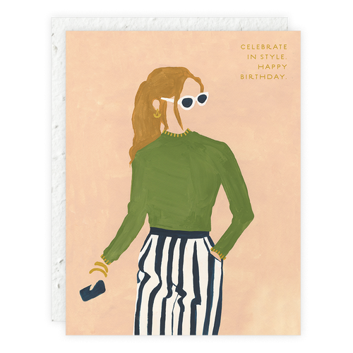 Girl Wearing Sunglasses Card
