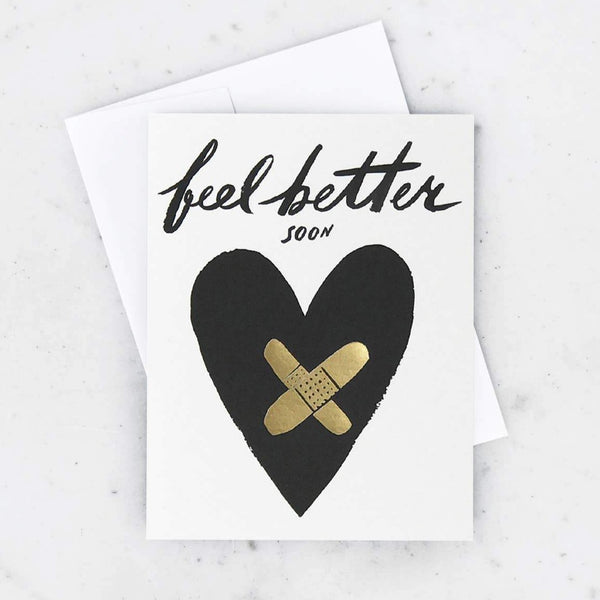Sympathy Feel Better Soon Bandaid Heart Card