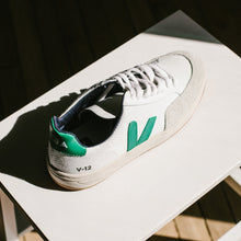 Load image into Gallery viewer, V-12 B-Mesh Sneaker in White Emeraude