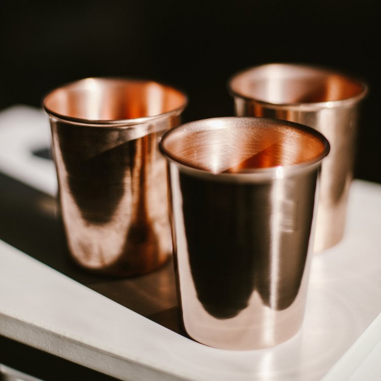 Copper Cup | Small Copper Cups | Kitchen Cups | Cocktail Bar Cups | Golden Rule Gallery | Excelsior, MN