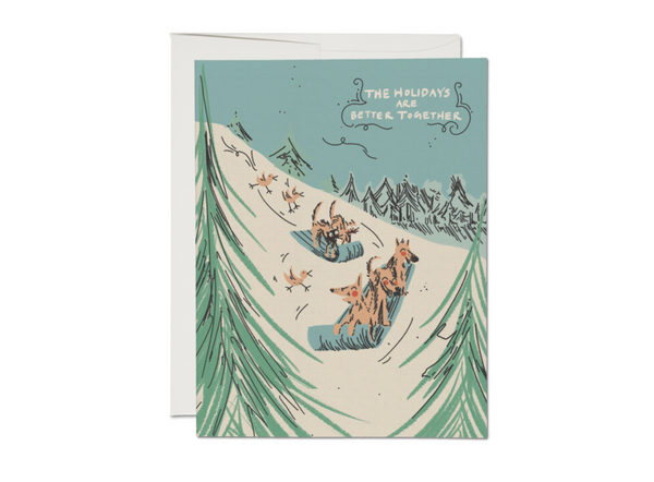 Sled Dogs Cards | Holiday Cards | Golden Rule Gallery | Excelsior, MN