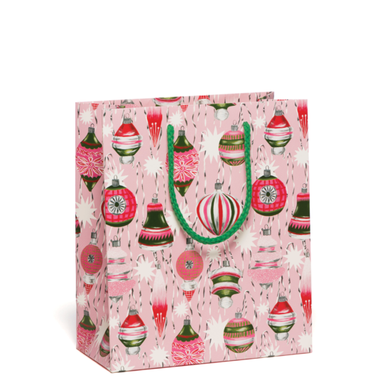 Retro Ornaments Gift Bag | Red Cap Cards | Golden Rule Gallery | Excelsior, MN