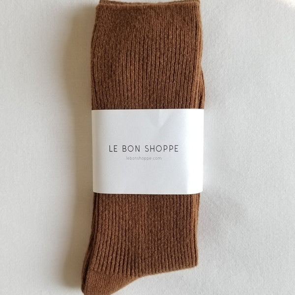 Grandpa Socks in Tawny | Brown Tube Socks | Le Bon Shoppe | Golden Rule Gallery | Excelsior, MN