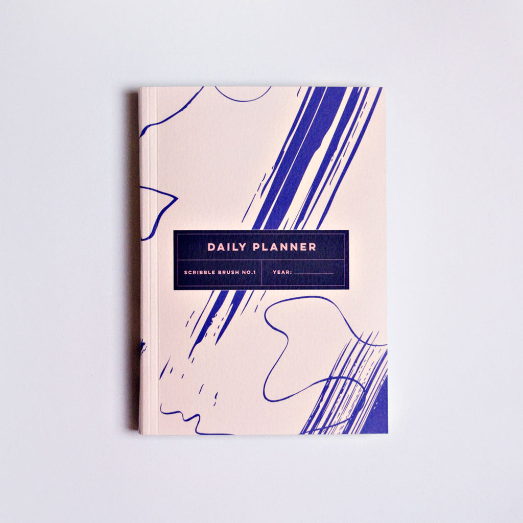 Scribble Brush No.2 Daily Planner Book | The Completist Planner | Artist Agenda | Graphic Year Planner | Golden Rule Gallery | Excelsior, MN