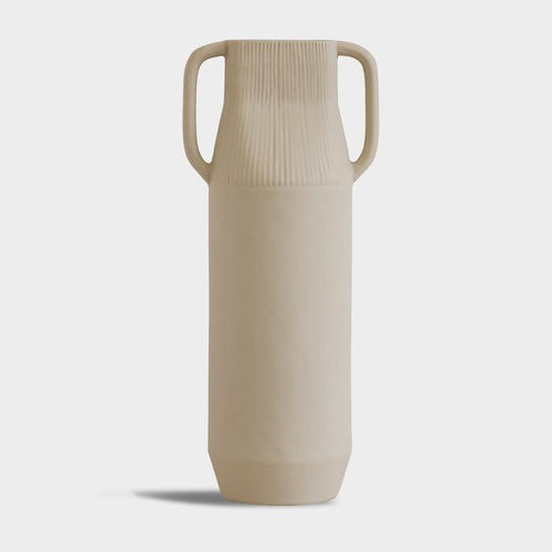 Tall Vase in Off-White - Large