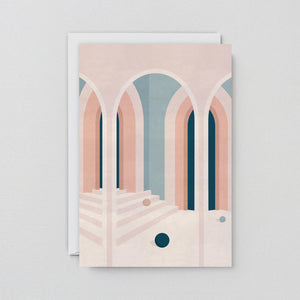 Pastel Arches Art Card