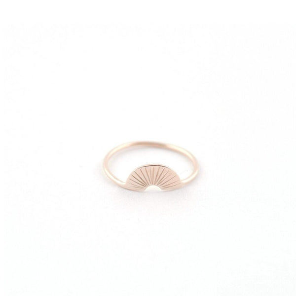 Gold Plated Arch Ring