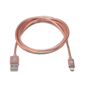 Rose Gold Metal Lightning Cable