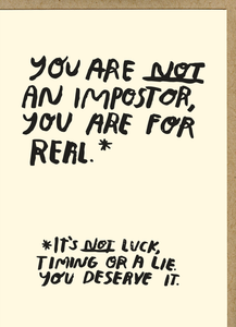 You Are Not an Imposter Card