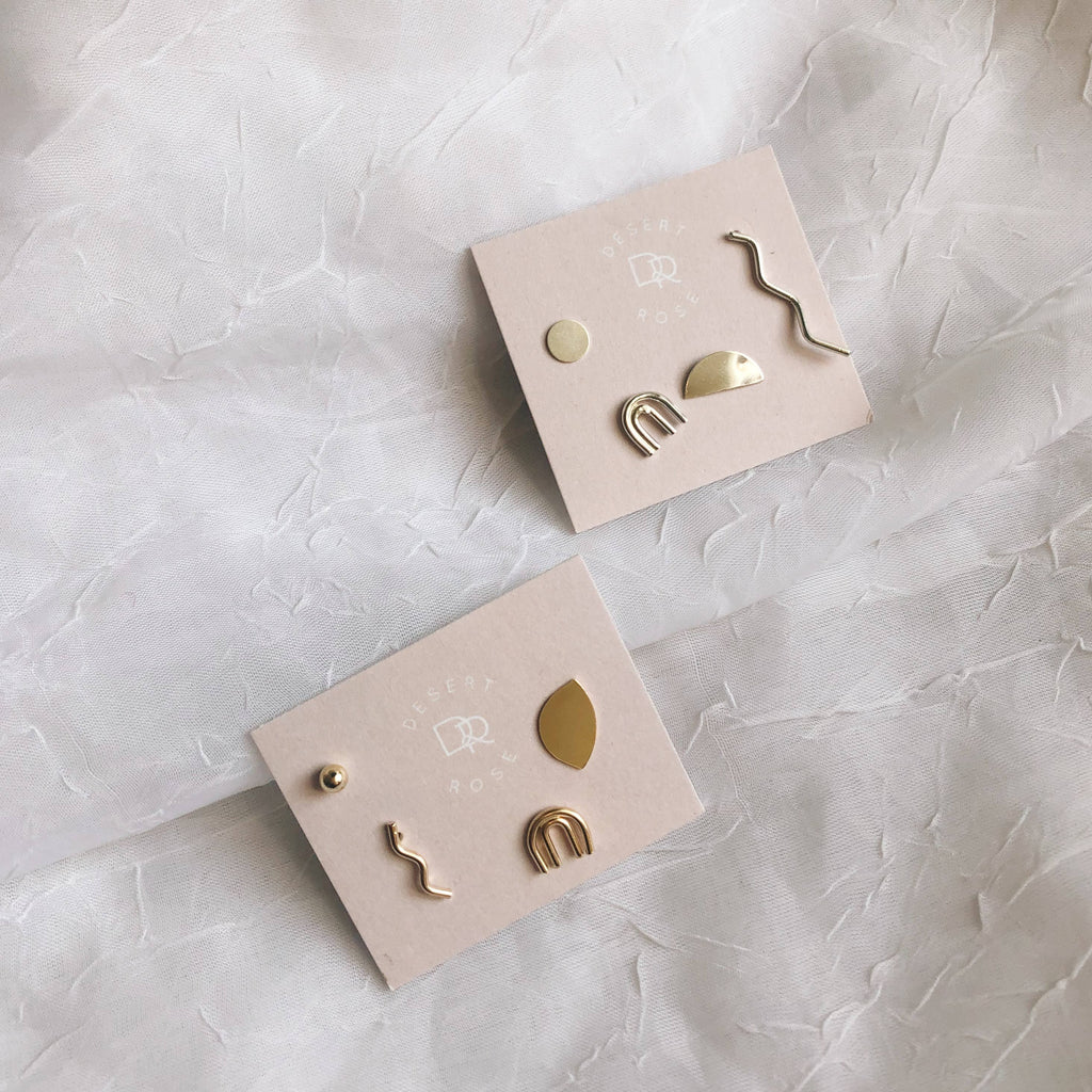 Mix and Match Stud Earrings