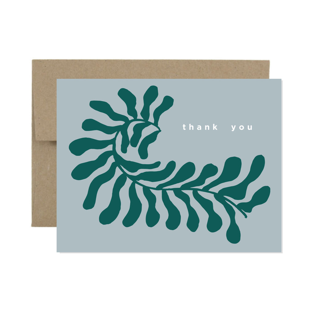 Thank You Leaf Card | Confetti Riot | Plant Thank You Card | Golden Rule Gallery | Excelsior, MN