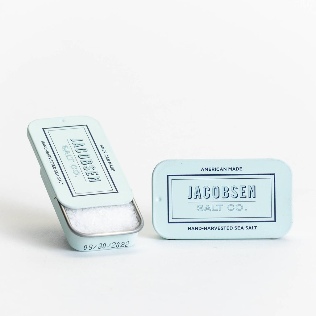 Jacobsen Salt Co | Kosher Sea Salt Slide Tin | Golden Rule Gallery | Hand Harvested Sea Salt | Excelsior, MN | Gifts for a Chef | Kitchen Essentials