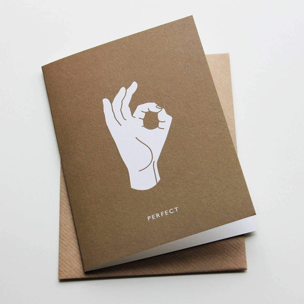 Perfect Hand Greeting Card